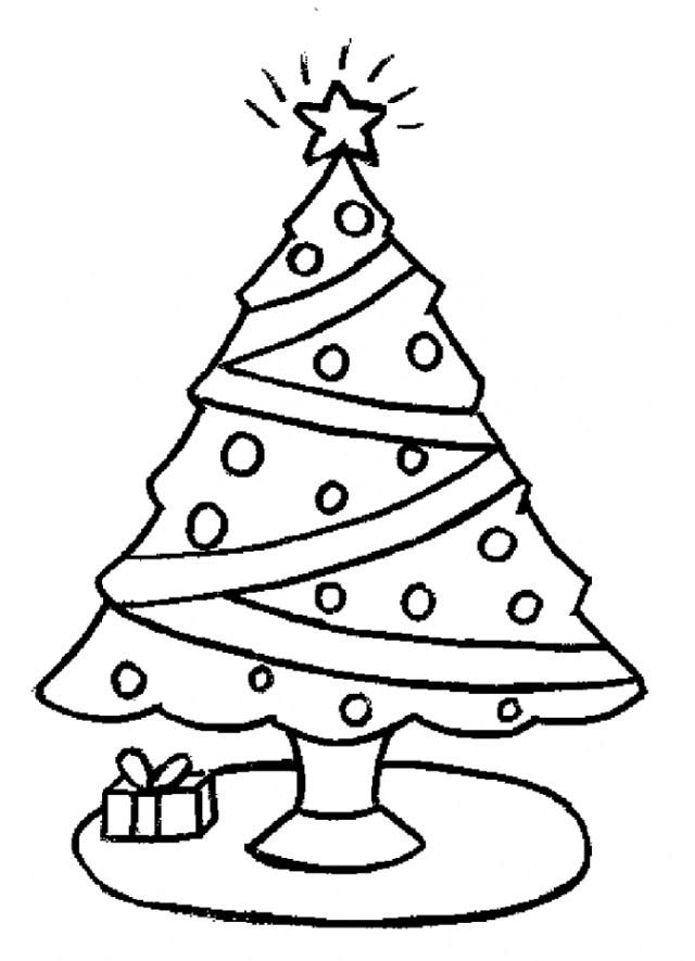 Dibujos de árboles navideños para pintar