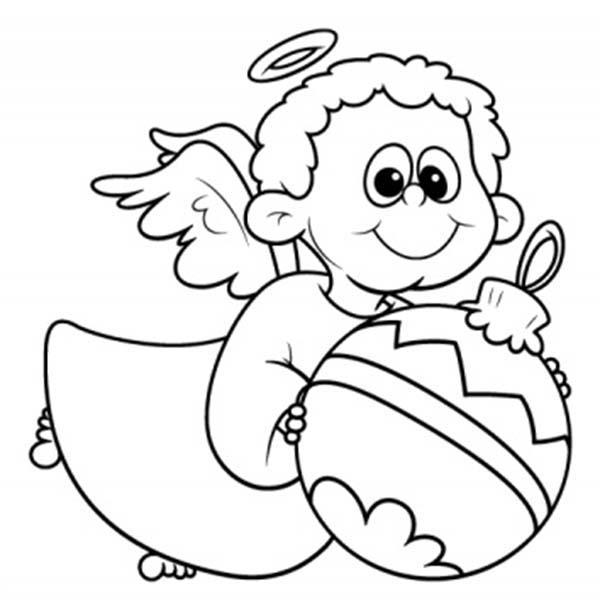 dibujos de angeles de navidad para colorear e imprimir