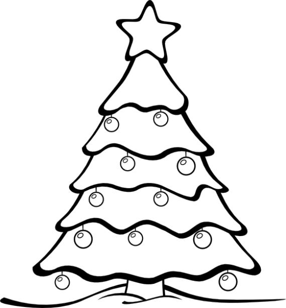 Imagenes de arboles de navidad para pintar