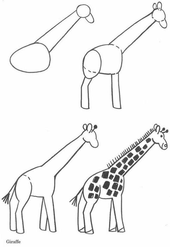 Cómo dibujar una jirafa facil