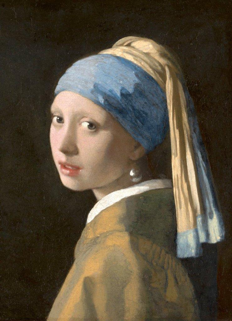 Chica con Pendiente de Perla por el Pintor Holandes Vermeer