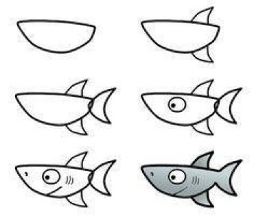 Como dibujar un pez paso a paso fácilparaniños