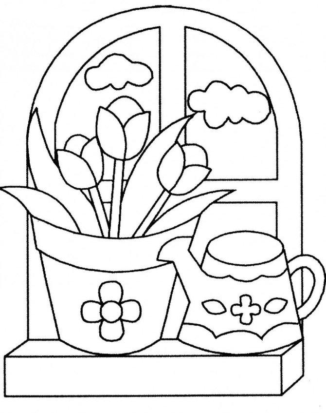 Dibujos de flores para imprimir y colorear para niños