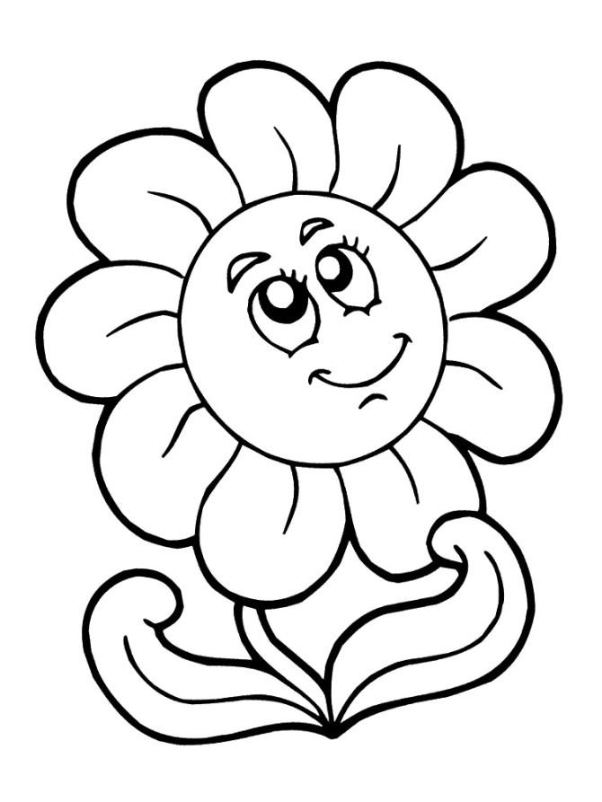 Dibujos para niños de flores para colorear