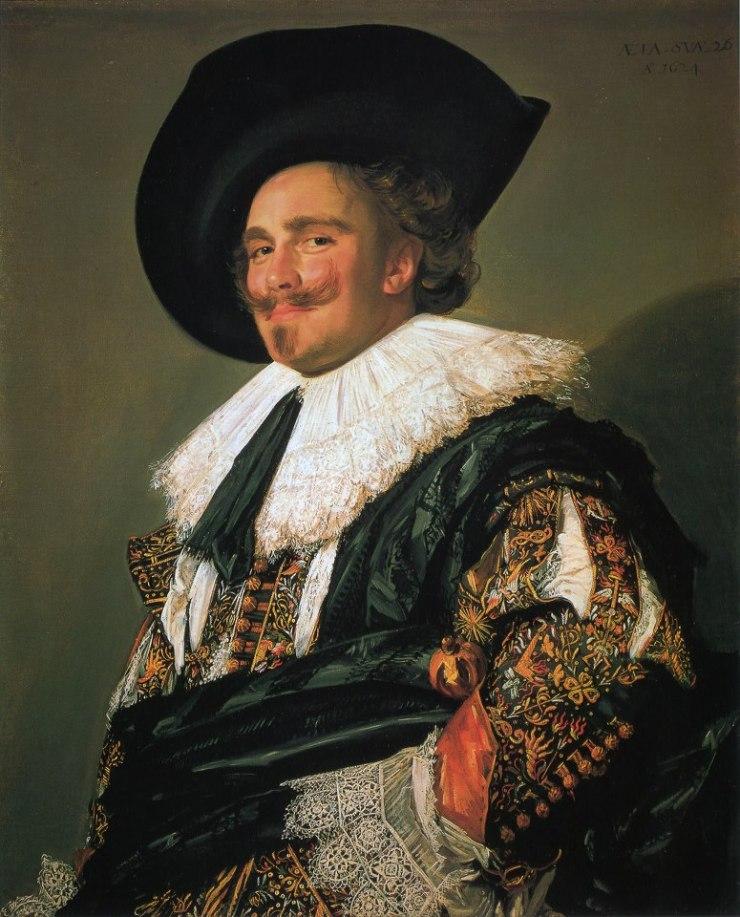 El caballero sonriente por Frans Hals Famoso Pintor Holandes