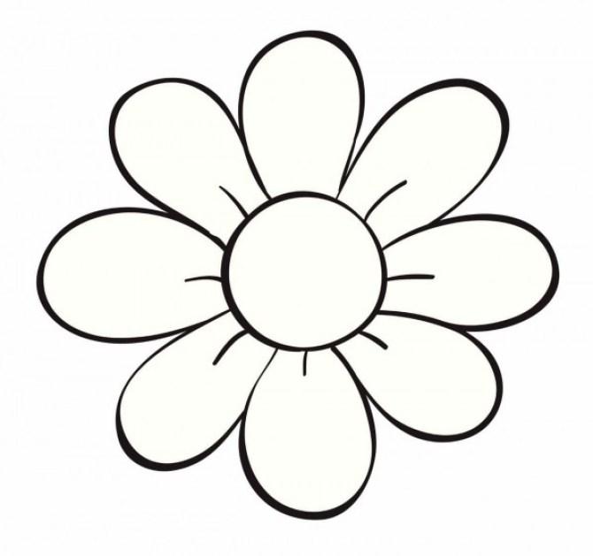 Imagen de una flor para colorear y pintar para niños