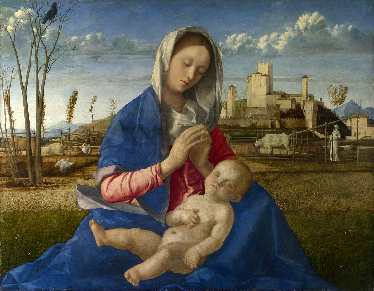 Pintor Italiano Clásico Giovanni BELLINI - Madonna del Prato