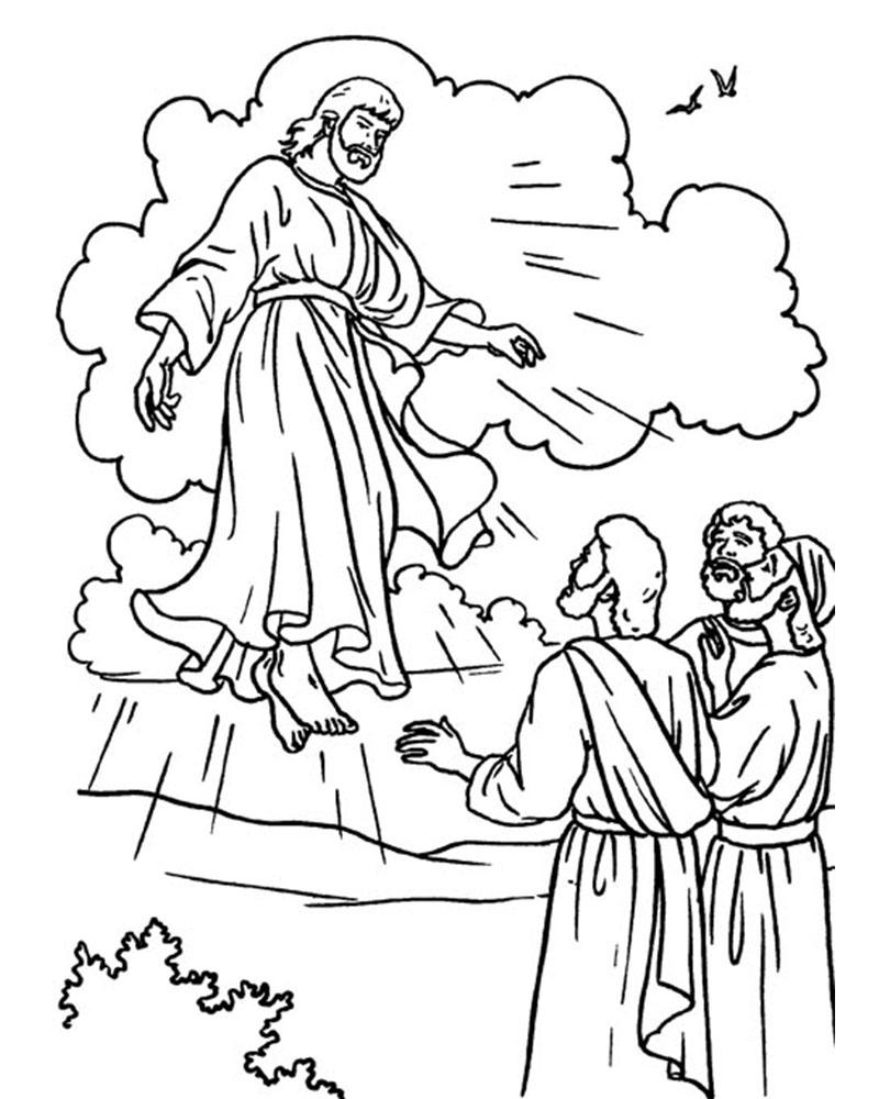 Ascension de Jesus para colorear