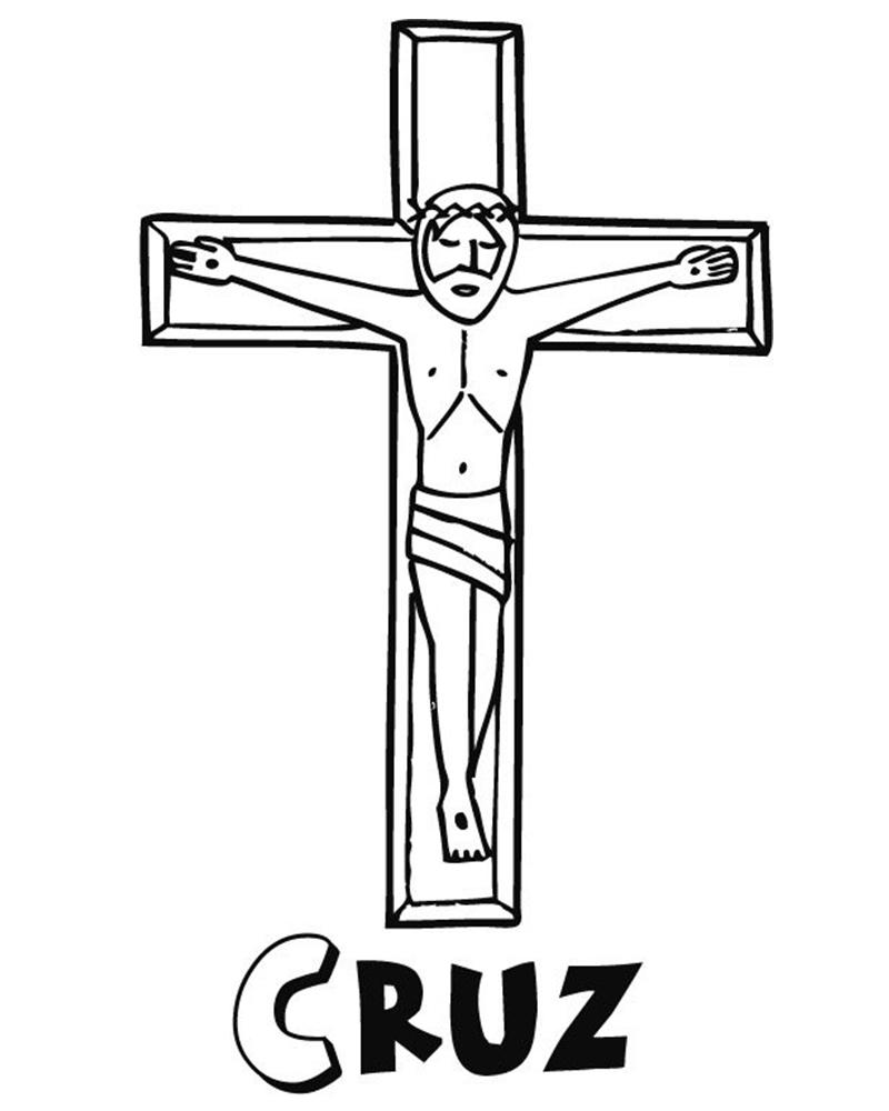 Dibujos de Jesus en la cruz para imprimir y colorear