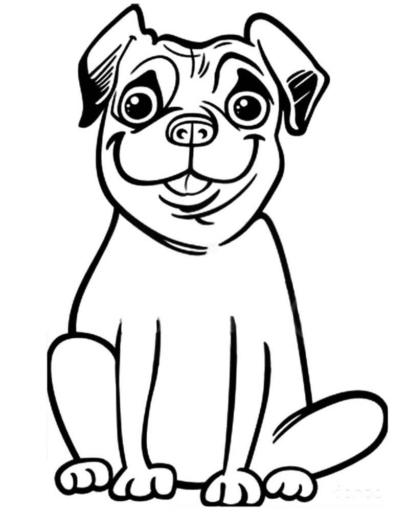 Dibujos de perros dificiles para colorear