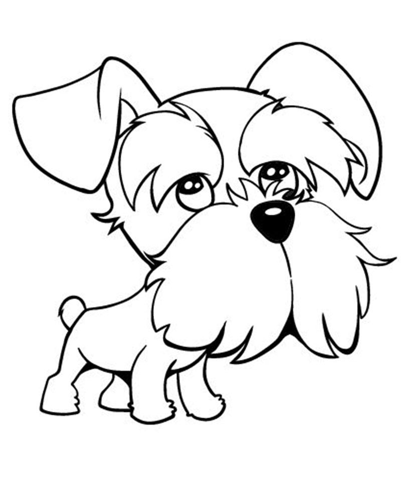 Dibujos Para Pintar Perritos Tiernos Dibujos De Perros Y Gatos Para