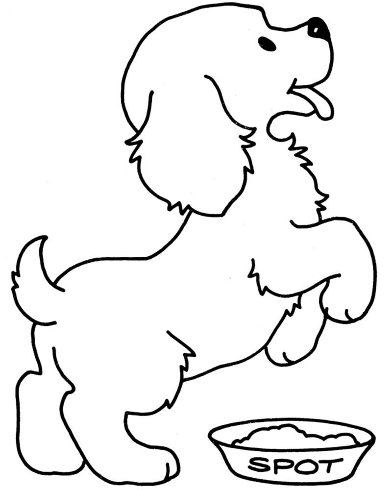 Dibujos para colorear de perros tiernos