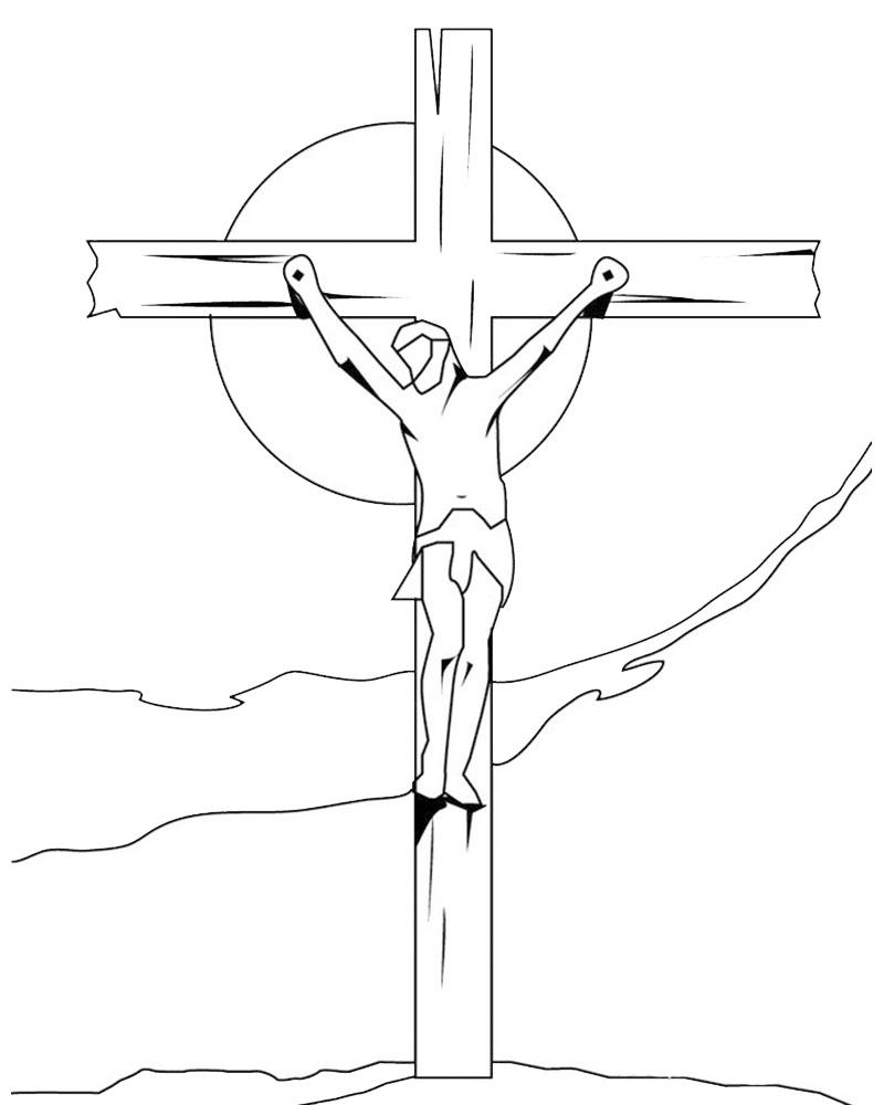 Imagen de Jesus en La Cruz para dibujar facil