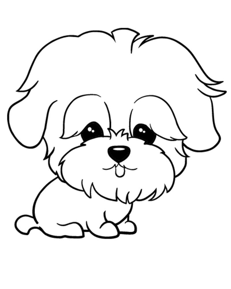 Imagenes de dibujos para imprimir de perros tiernos