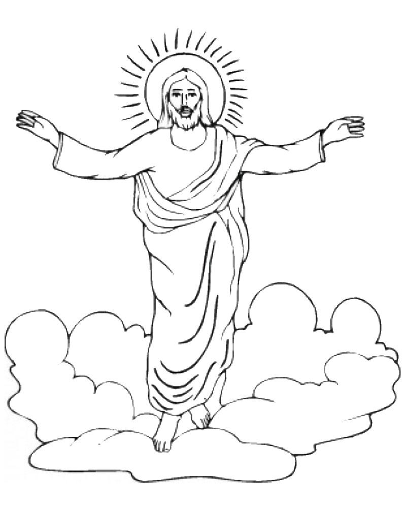 dibujos de jesus resucitado para colorear