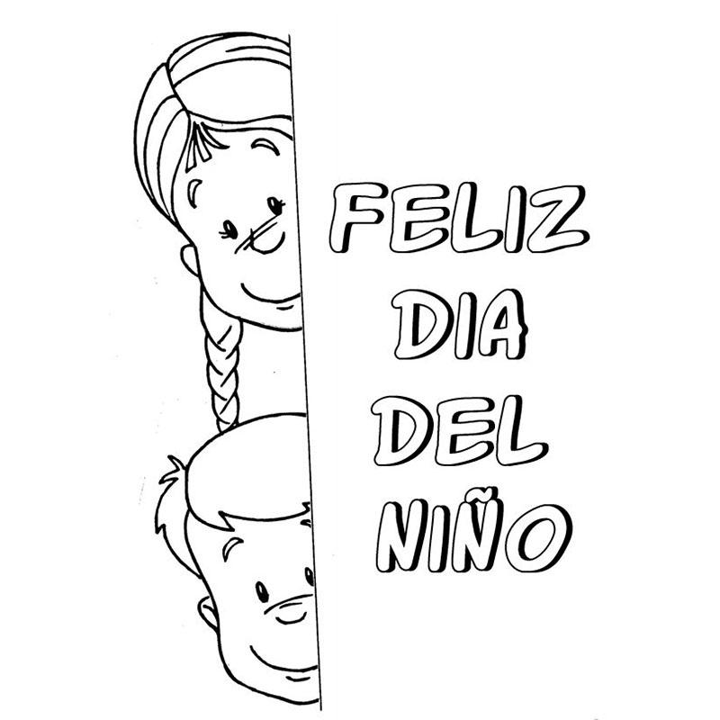 Feliz Dia Niño Colorear 9