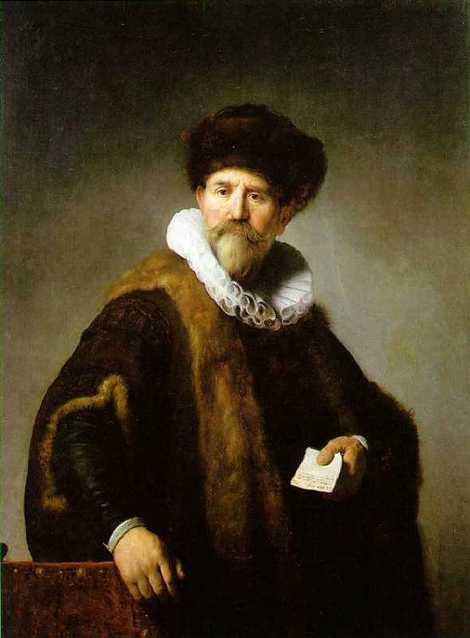 Retrato de Nicolaes Ruts Obra de Rembrant