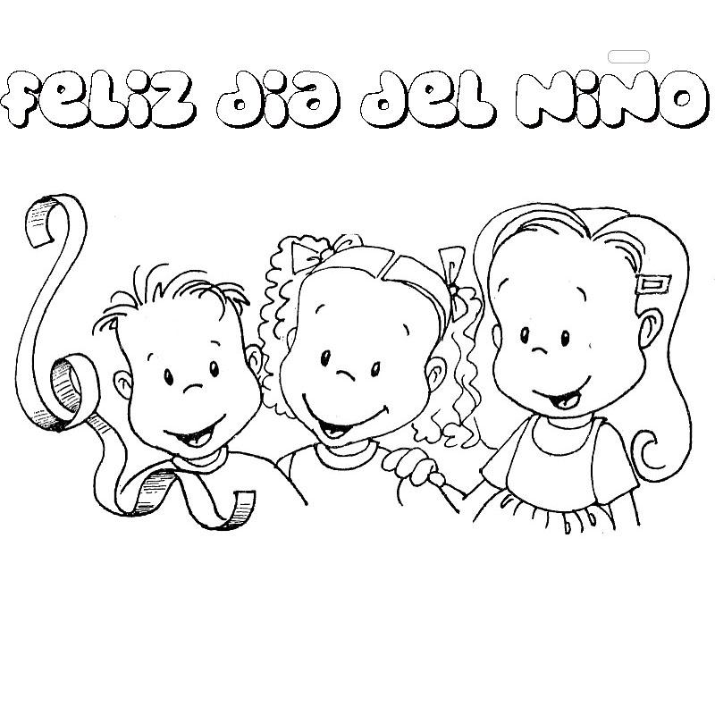 dibujos del dia del niño para colorear bonitos