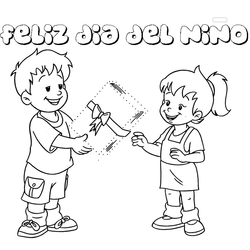 dibujos para colorear y pintar feliz día del niño