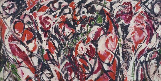 lee krasner pintura abstracta