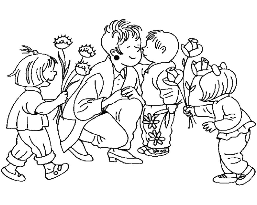 Dibujos para niños para colorear y regalar a mamá