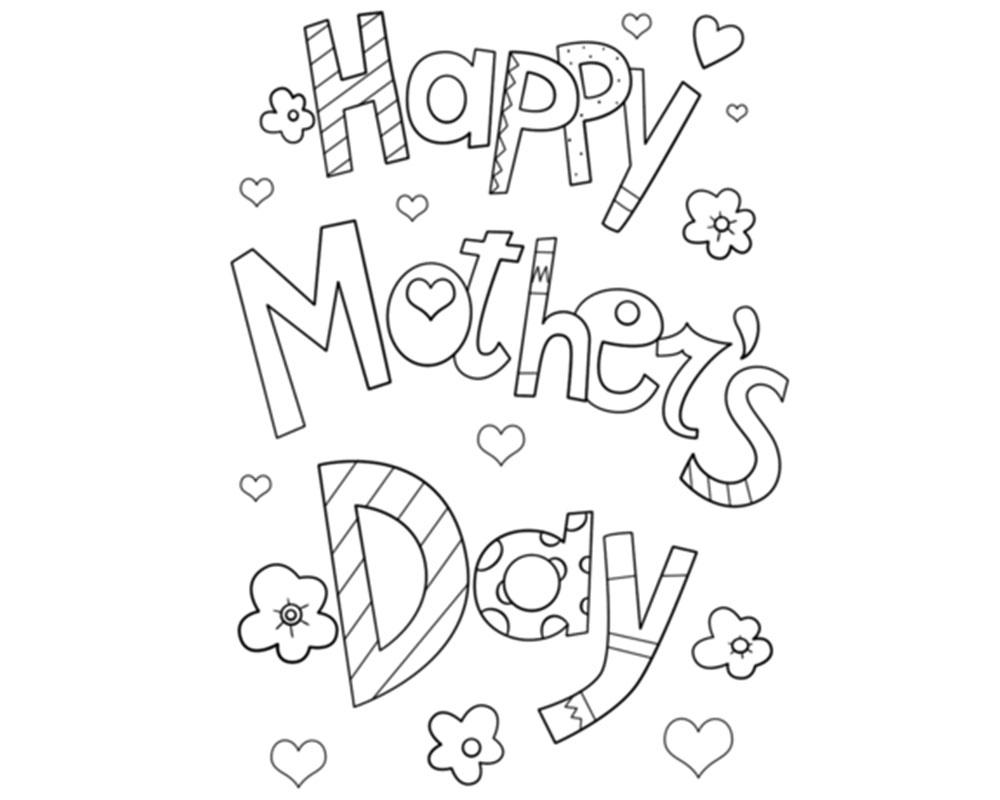 Happy mothers day par colorear y regalar a mamá