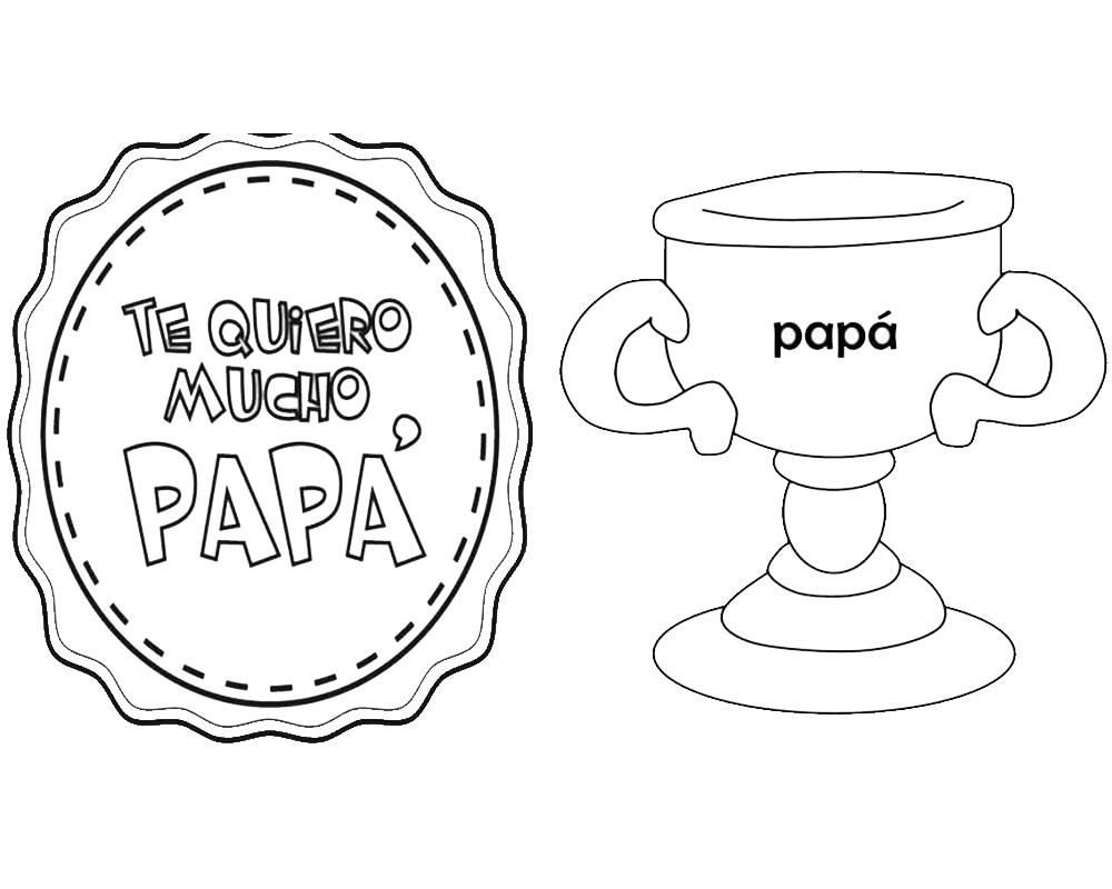 Carteles dia del padre para imprimir y colorear