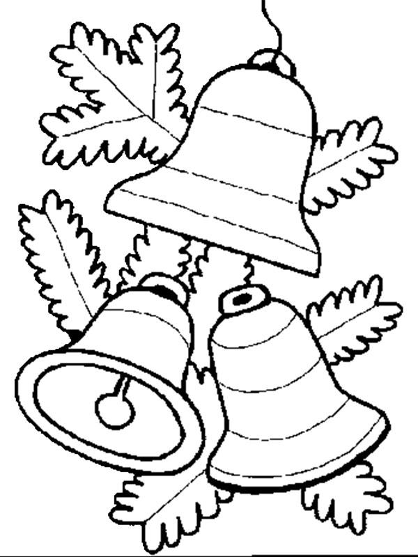 Dibujos Fáciles Para Niños De Campanas De Navidad Para Colorear
