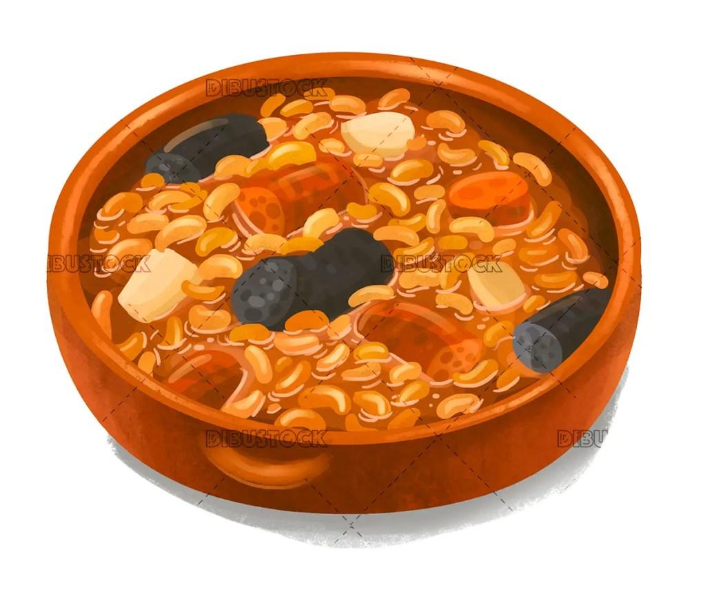 Bean stew with chorizo