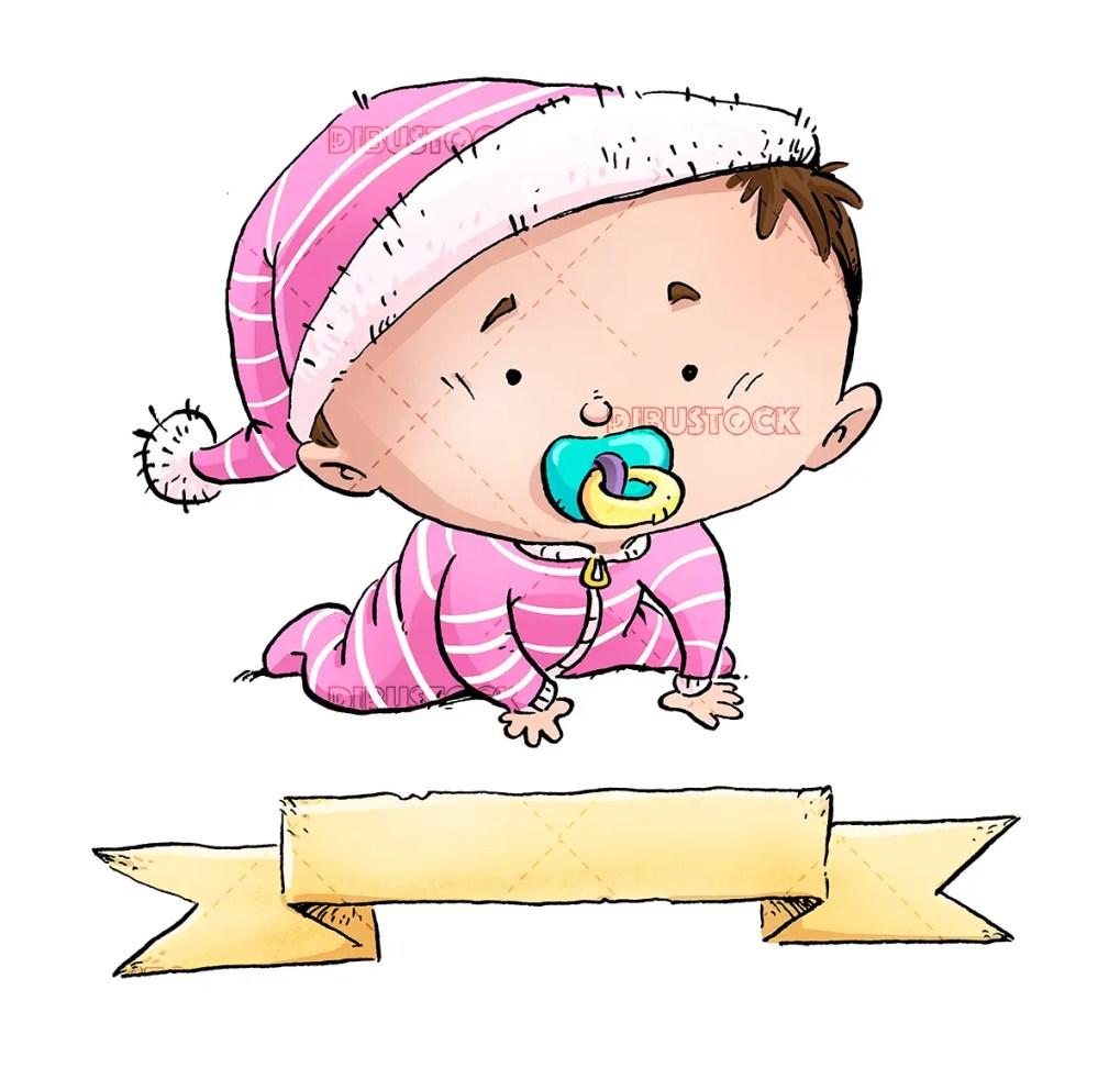 baby congratulations pink
