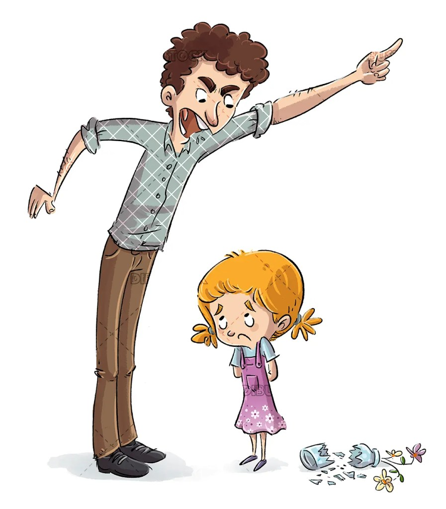 Angry father with his daughter