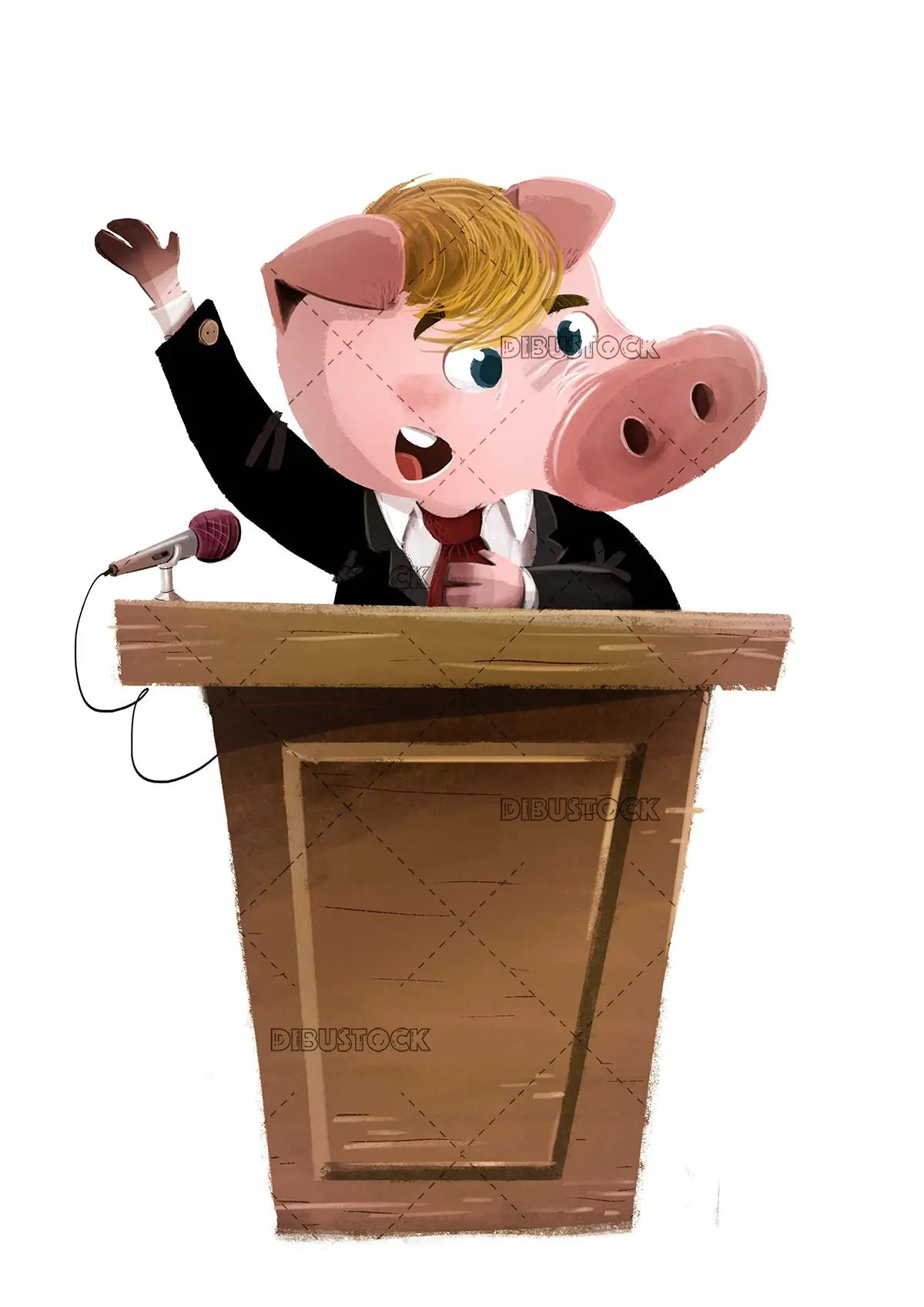 Pig in the guise of president