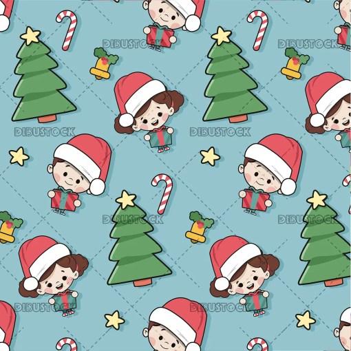 Christmas motives pattern