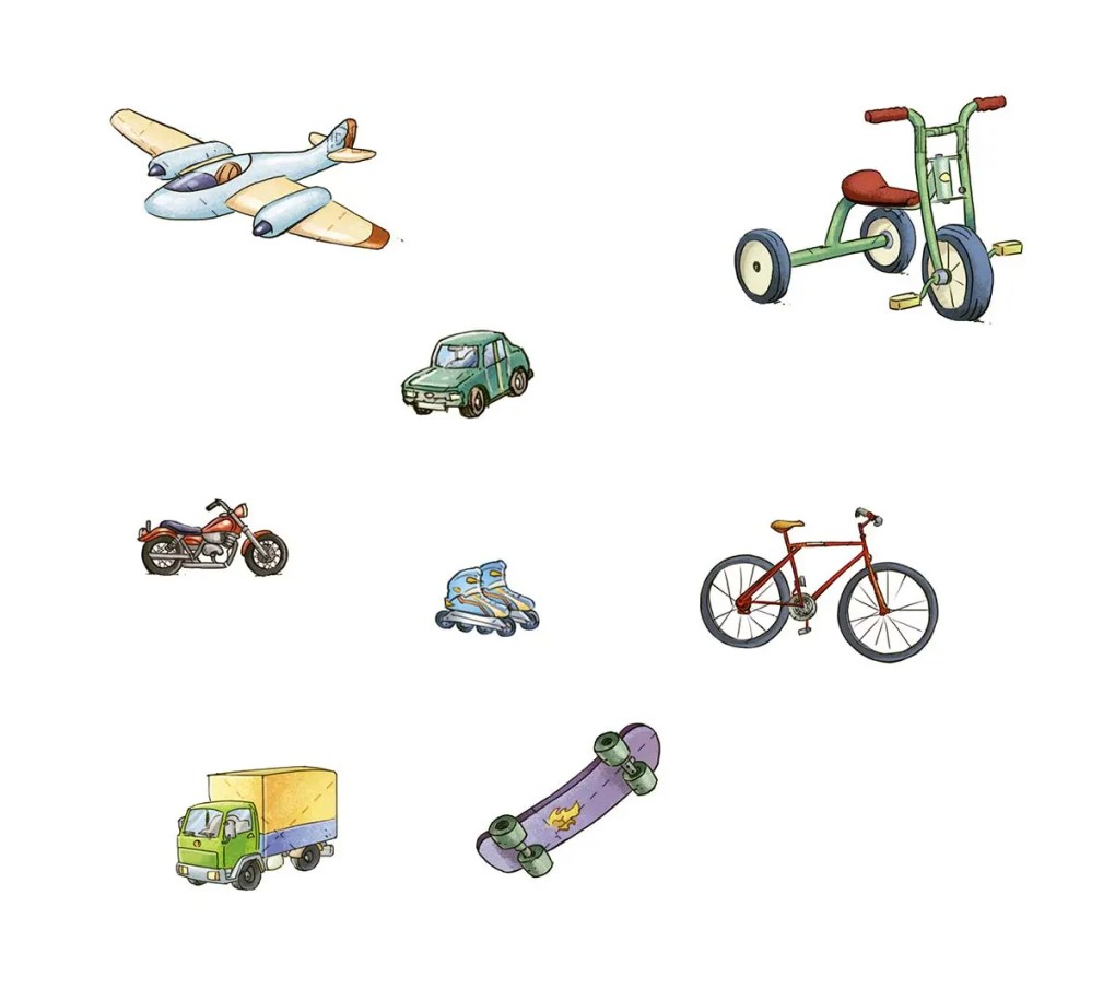 Different means of transport