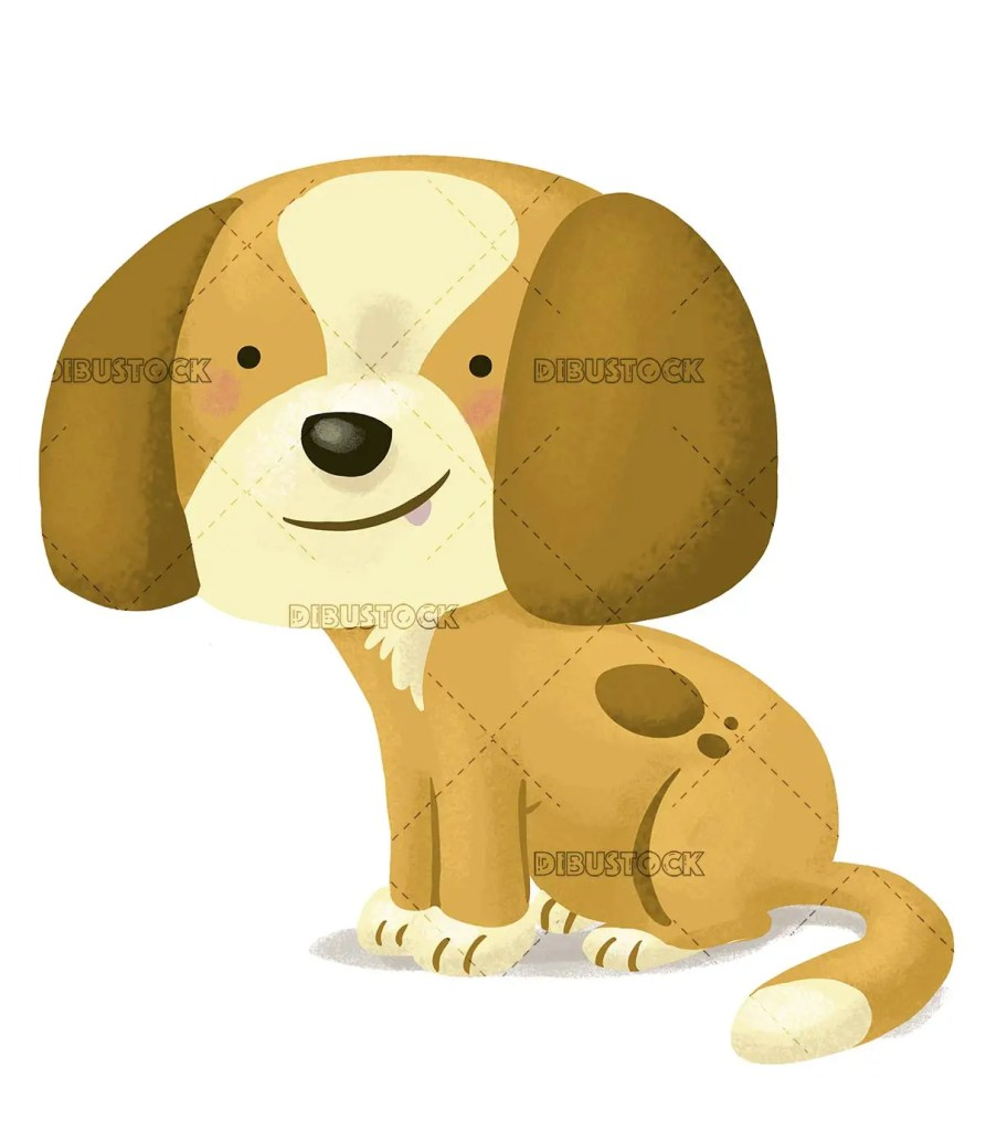 brown dog on isolated background