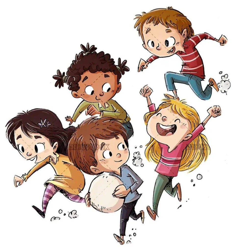happy walking kids group
