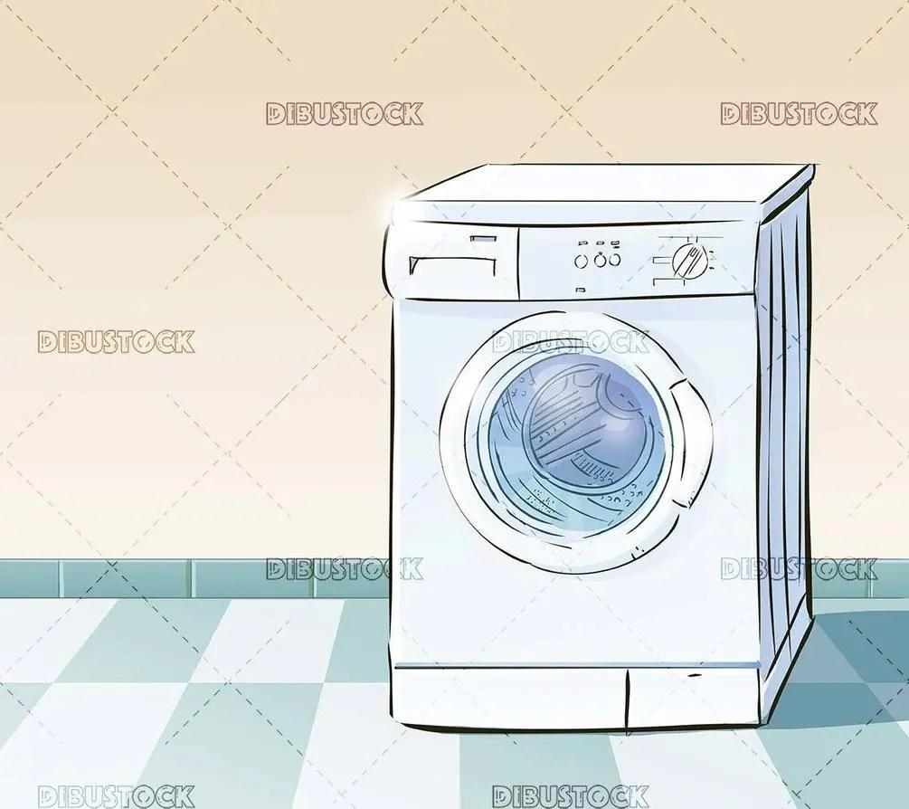washing machine illustration