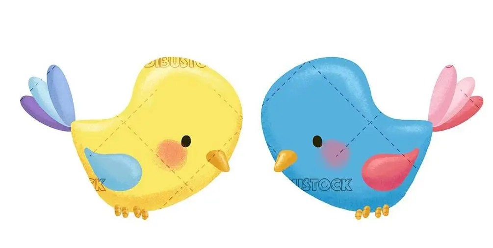 yellow and blue birds