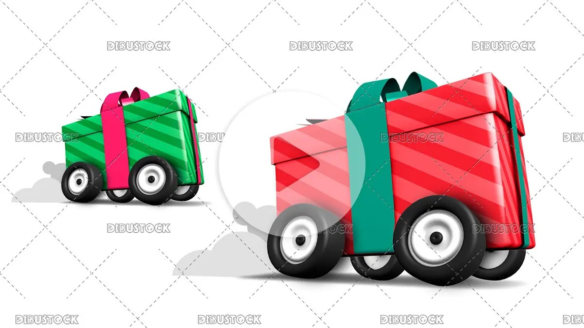 Gifts with wheels running at full speed