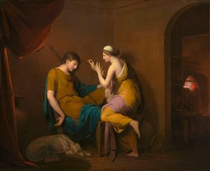 Joseph Wright of Derby. The Corinthian Maid. c.1782-5.