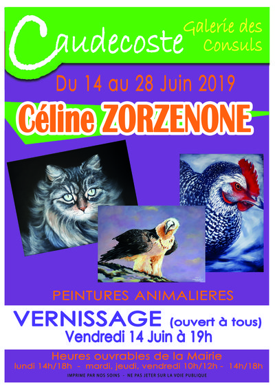 Exposition Céline Zorzenone (Peintures)