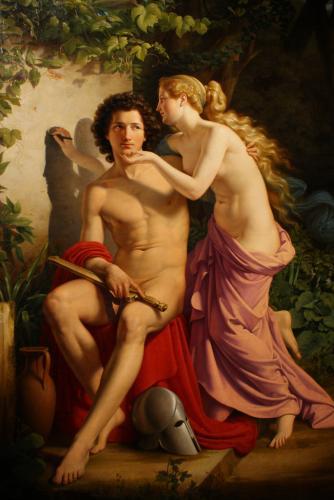 Wilhelm Eduard Daege – La naissance de la peinture (1832)