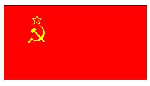 Государственный флаг СССР.