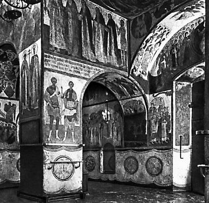 Благовещенский собор в Московском Кремле. 1484—89. Роспись работы Феодосия, 1508.