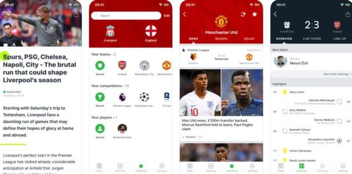 Tela Onefootball iOS - Dica App do Dia