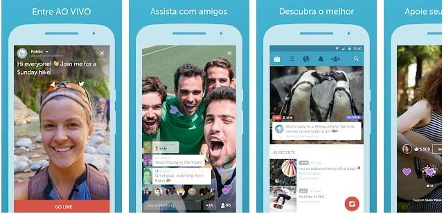 Tela Periscope - Android - Dica App do Dia