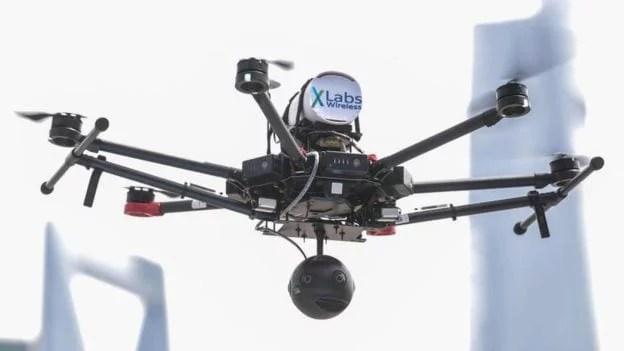 A China está testando transmissões em tempo real de drones de alta definição usando 5G   Getty Images