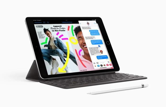 O iPad de 9ª geração é um grande salto em frente e oferece recursos avançados a um preço incrível. Imagem Apple NewsRoom