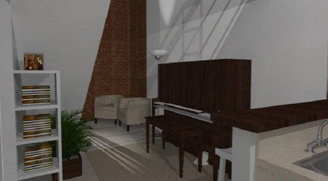HALL COM PIANO