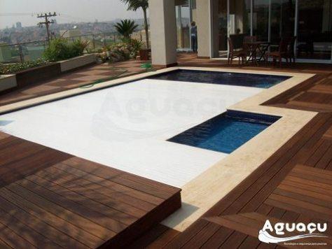cobrir a piscina - capa retratil pvc aguaçu
